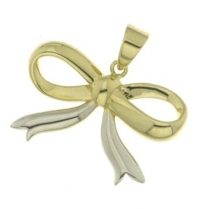 9 karat 2 tone bow pendant in south africa